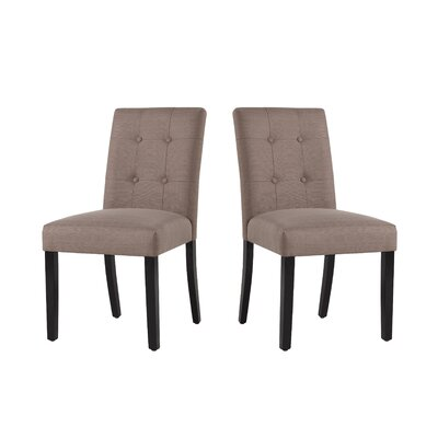 Marie-Anne Contemporary Upholstered Dining Chair Upholstery: Dolphin