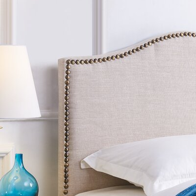 Unger Upholstered Panel Headboard Size: Twin, Upholstery: Beige