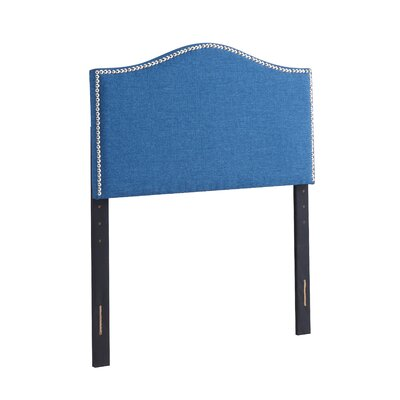 Unger Upholstered Panel Headboard Size: Full/Queen, Upholstery: Blue
