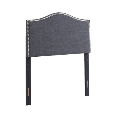 Unger Upholstered Panel Headboard Size: Full/Queen, Upholstery: Charcoal