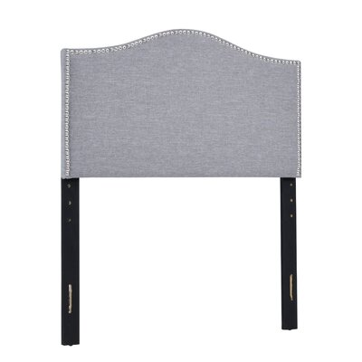 Unger Upholstered Panel Headboard Size: Twin, Upholstery: Gray