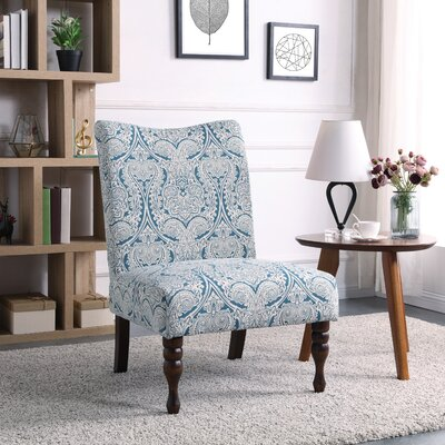 Payton Slipper Chair Color: Paisley Blue