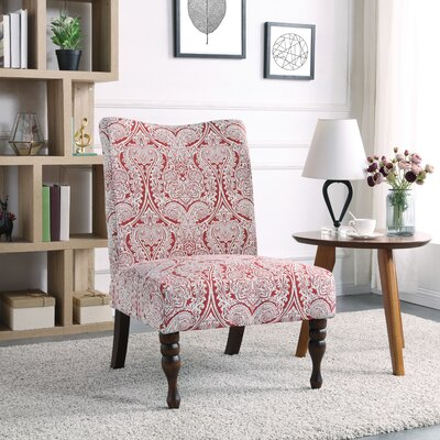 Payton Slipper Chair Color: Paisley Ruby