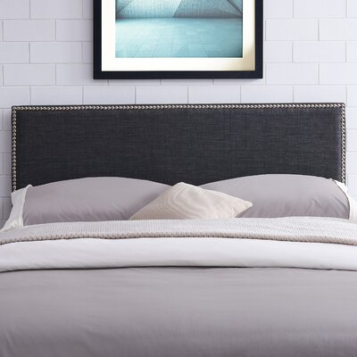 Unger Square Upholstered Headboard Size: King/California King, Color: Charcoal