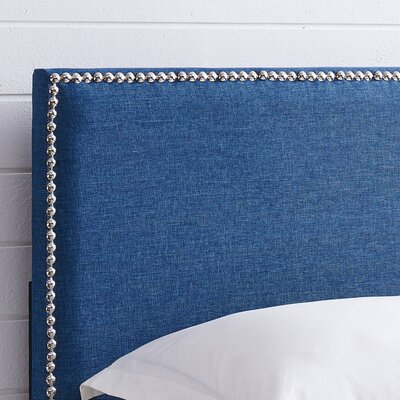 Unger Square Upholstered Headboard Size: King/California King, Color: Blue