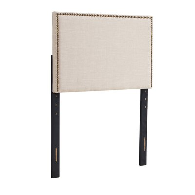 Unger Square Upholstered Headboard Size: Twin, Color: Beige