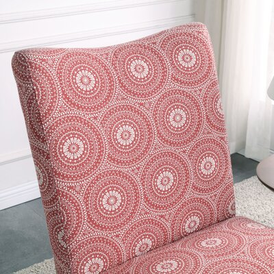 Payton Medallion Slipper Chair Upholstery: Ruby