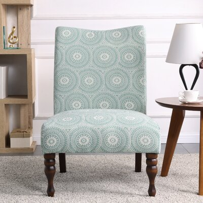 Payton Medallion Slipper Chair Upholstery: Mint