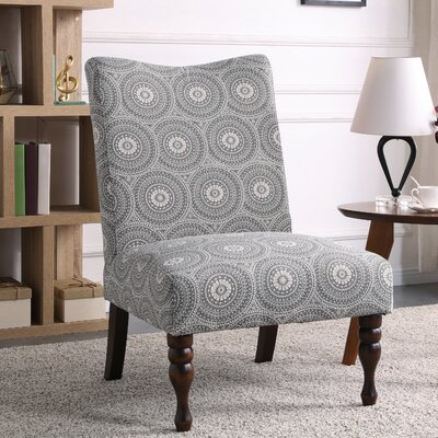Payton Medallion Slipper Chair Upholstery: Gray
