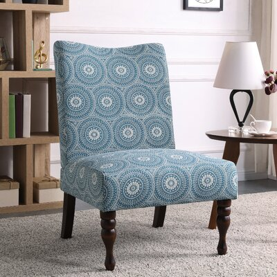 Payton Medallion Slipper Chair Upholstery: Aqua