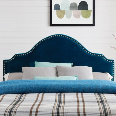 Leeds Upholstered Panel Headboard Upholstery: Mallard Velvet, Size: Full/Queen
