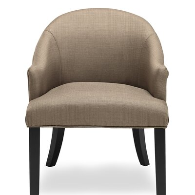 Carranza Barrel Chair Upholstery: Pebble Stone