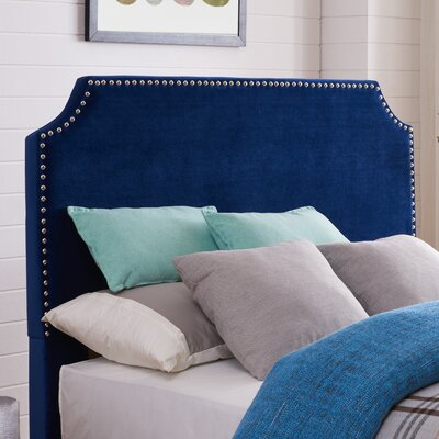 Hawtree Upholstered Panel Headboard Upholstery: Sapphire Velvet, Size: King/California King
