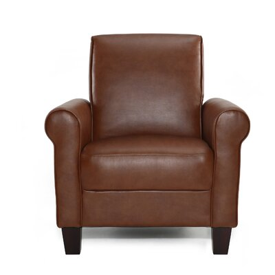 Ravenwood Faux Leather Armchair Upholstery: Med Brown