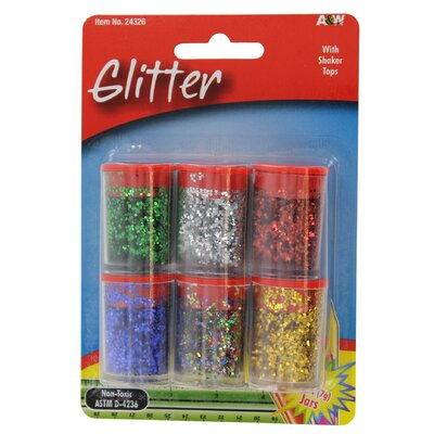 0.25 Oz. Glitter (6 Pack) (Set of 6)