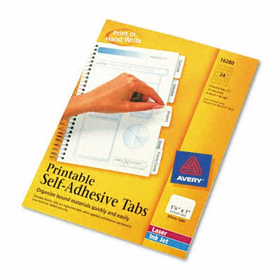 Printable Repositionable Plastic Tabs Tab Size: 1.25