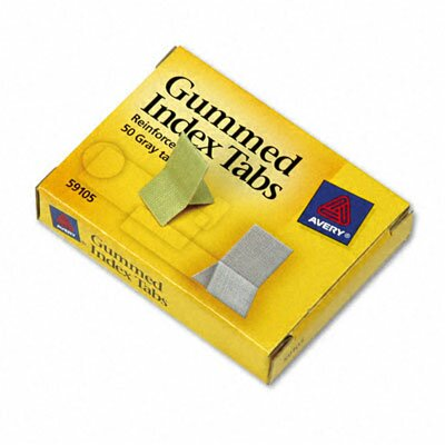 Gummed Index Tabs (Set of 3) Color: Grey, Tab Size: 0.81 H x 1 W