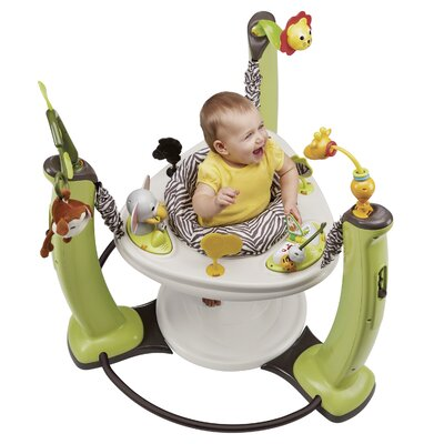 c89735ca0a29 Evenflo ExerSaucer Jungle Quest Jump and Learn Stationary Jumper