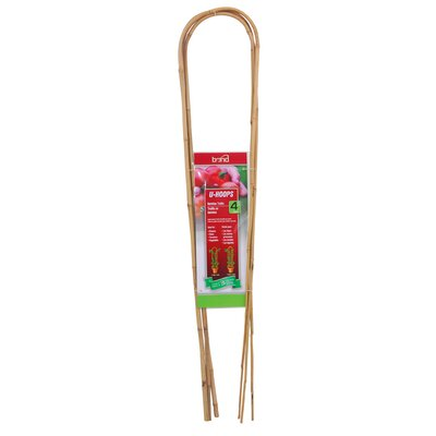 "Bamboo U Hoops (Set of 15) Size: 4"" U4803"