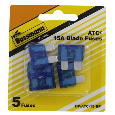 Bussman Cooper Blade Fuse 15 Amp 5 Count at Sears.com