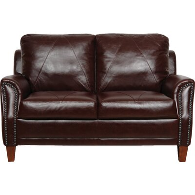 Buco Leather Loveseat