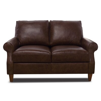 Nyquist Leather Loveseat