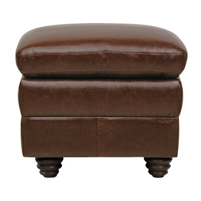 Levi Leather Ottoman