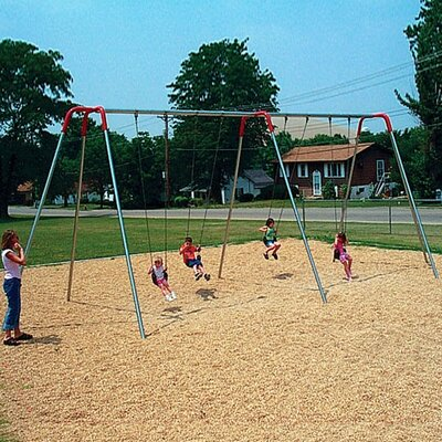 Modern Tripod Swing Set Seating: 6 seats, Size: 8ft 581-630-8