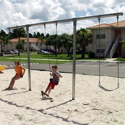 Heavy Duty T Swing Set Seating: 2 seats 581-352