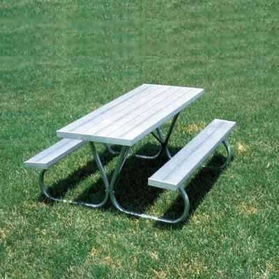 Standard Picnic Table (Aluminum) Table Size: 8 ft length