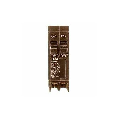 Type QT Single Pole Twin Circuit Breaker Amperage: 15 Amps