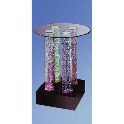 Aqua Pub Table Top: Round, Finish: No Color Wheel, Lights: 4 LED Lights