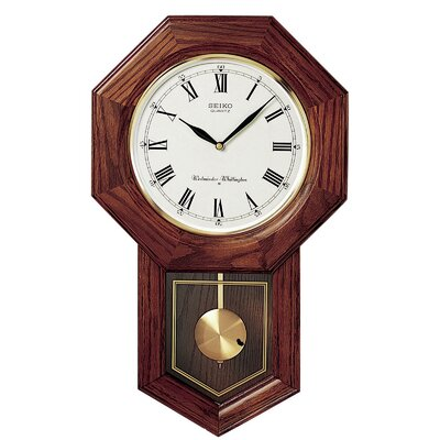 "13"" Schoolhouse Pendulum Wall Clock QXH102BC"