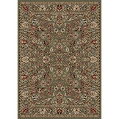 Persian Classics Oriental Mahal Green Area Rug Rug Size: 7'10