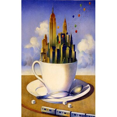 "Concord New York City Our Cup of Tea Novelty Rug - Rug Size: 3'11"" x 6' at Sears.com"