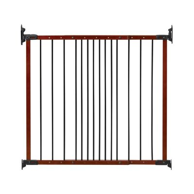 Designer Angle Mount Wall Mounted Safeway Pet Gate Finish: Cherry
