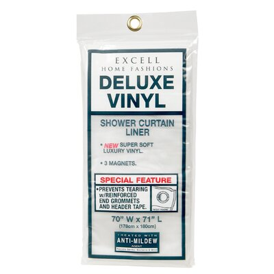 Vinyl Deluxe Shower Curtain Liner Color: White