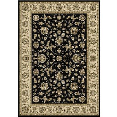 Regency Black/Ivory Area Rug Rug Size: 92 x 125