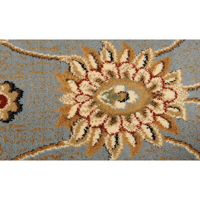 Triumph Gray Area Rug Rug Size: Oval 27 x 43