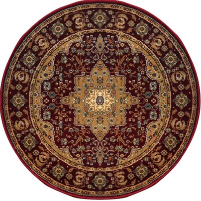 Triumph Red Area Rug Rug Size: Round 78