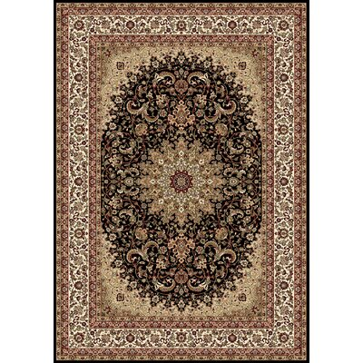 Regency Black Area Rug Rug Size: 54 x 78