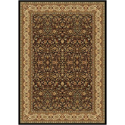 "Regency Black Area Rug Rug Size: Rectangle 5'4"" x 7'8"" 8302 black-(5'4'' x 7'8'')"