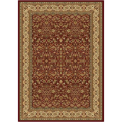 Regency Red Area Rug Rug Size: Rectangle 54 x 78
