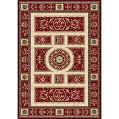 Regency Red Area Rug Rug Size: Rectangle 92 x 126
