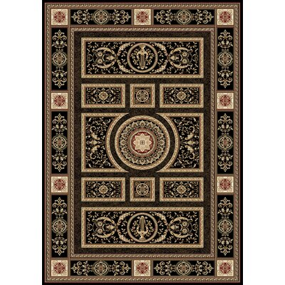 Regency Black Area Rug Rug Size: Rectangle 126 x 159