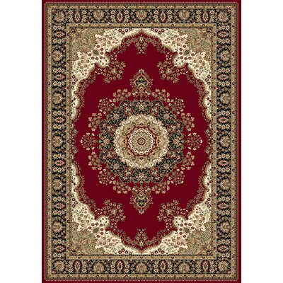Regency Red Area Rug Rug Size: 54 x 78