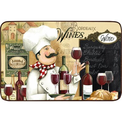 Black Mesa Vino Chef Oversized Anti Fatigue Kitchen Mat