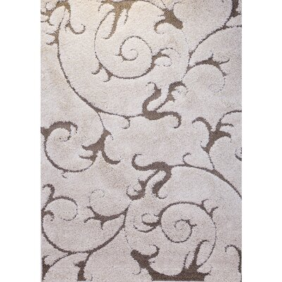 Goldsmith Ivory Area Rug Rug Size: 52 x 72