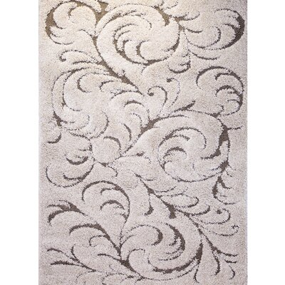 Goldsmith Traditional Ivory Area Rug Rug Size: 52 x 72