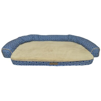 Comfy Pooch Printed Couch Bolster Color: Light Blue